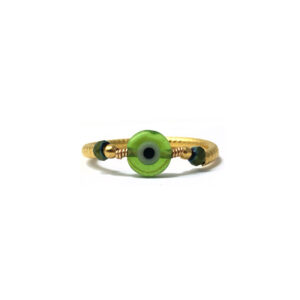 Anillo Talismán Verde Foto-Frontal